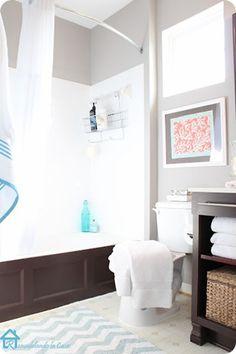 bathroom - Sherwin Williams Requisite Gray - Flat