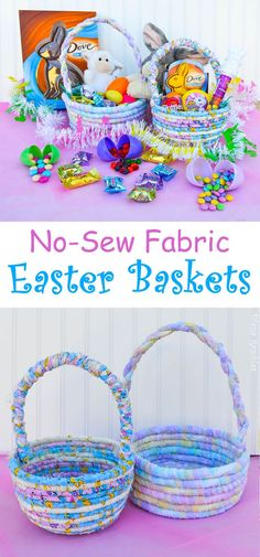 No-Sew Fabric Easter Basket #SweeterEaster AD #Tutorial