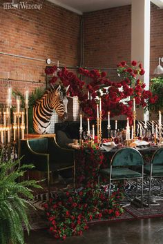 Safari Wedding Theme - Based on your venue agreement, there could be a few limitations with regards to the sort of decor it is possible to generate or Velvet Wedding Theme, Zebra Wedding, Safari Wedding, Ruby Wedding, African Party Theme, African Wedding Theme, Wedding Themes, Wedding Decorations, Wedding Ideas