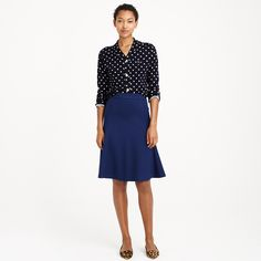 Structured A-line skirt : A-line/Full | J.Crew