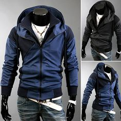 Color Contrast Slim Fit Design Men Hoodie . Shop Now At  http://sneakoutfitters.com/collections/new-in/products/color-contrast-slim-fit-design-men-hoodie-ao-cybb-sw-702-so55
