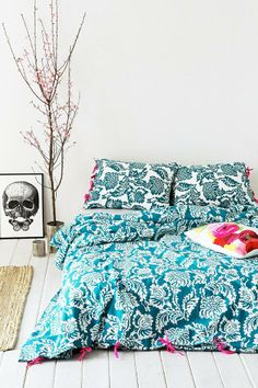 Magical Thinking Stamped Blossom Duvet Cover #urbanoutfitters