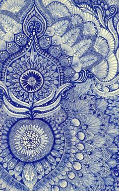 blue by Yes Menu. Art prints available through Zentangle doodle style Indian Patterns, Textures Patterns, Print Texture, Gold Texture, Art Bleu, Pretty Patterns, Blue Patterns, Art Patterns, Henna Patterns