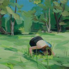 "Saatchi Art Artist Nikki Lindt; Painting, ""Solastalgia, in the Green"" #art"