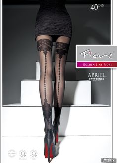 Mock hold-ups with back seam - Apriel by Fiore