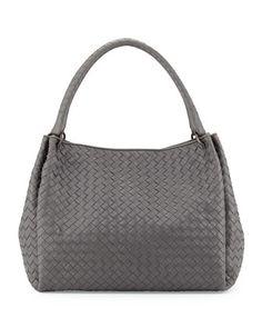 Parachute Intrecciato Tote Bag, Gray by Bottega Veneta at Neiman Marcus.