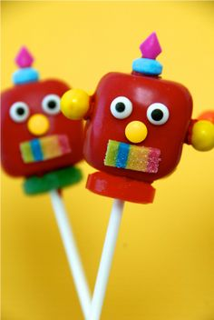 kumquat: Robot Cake Pops. Or could be done with marshmallows