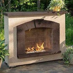 The Outdoor GreatRoom Company Stone Arch Outdoor Gas Burning Fireplace