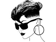 Free Black Girls, Black Girl Art, Art Girl, Coffee Mug Crafts, Black Woman Silhouette, Barber Logo, Cd Art, Mohawk Hairstyles, Silhouette Cameo Projects