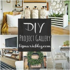 An entire gallery of DIY projects- A must pin, new projects being added to the gallery daily!