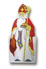 December is the feast day of Saint Nicholas whose reputation for secret gift-giving, such as putting coins in the shoes of those who left them out for him, Christmas World, Christmas Themes, Christmas Crafts, St Nicholas Day, Paper Dolls, Saints, Paper Crafts, Printables, Kids