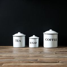 What would a farmhouse kitchen be without clearly labeled canisters?