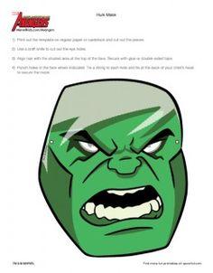 masques en papier the avengers