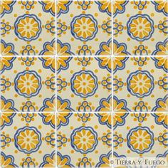 Mexican Tile - Yellow Lace Mexican Tile - i put this all over the walls in my last kitchen.
