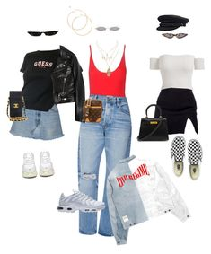 """Untitled #428"" by newstyleee ❤ liked on Polyvore featuring ASOS, Charlotte Russe, Frame, Yves Saint Laurent, Louis Vuitton, NIKE, Vans, Hermès, Balenciaga and Chanel"