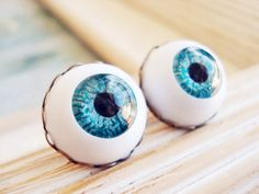 Cute Blue Fantasy Earrings for Party,Date,Traveling, - Gothic Style Blue Evil Eye Ball Earrings