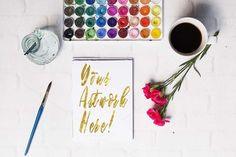 Watercolors & Coffee Bundle by Say Hello Photos on @creativemarket