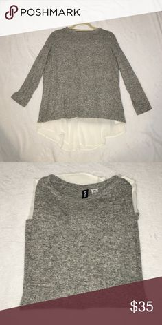 Urban Outfitters BDG Pullover Super soft grey sweater with chiffon trim. Urban Outfitters Tops Tees - Long Sleeve
