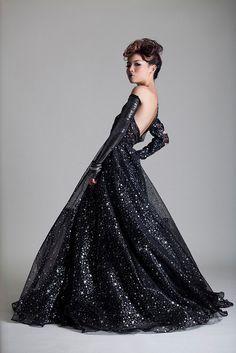 Nebula Gown Celestial Wedding dress Stars and by AliciaZenobia, $585.00