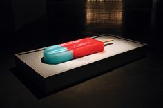 calamidad cósmica - these giant, brightly colored popsicles were placed into the gallery to slowly melt over the course of the day - Luciana Rondolini