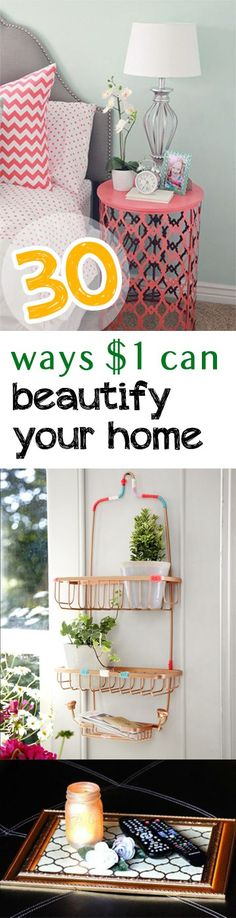 30 Ways $1 Can Beautify Your Home - Picky Stitch