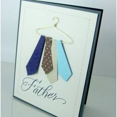 Tie Hanger Card {Father's Day Card} via @tipjunkie