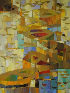 "Saatchi Art Artist Vadim Puyandaev; Painting, ""Boats #11"" #art"