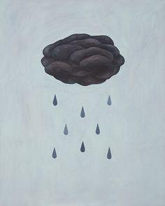 raindrops aimed at black cloud