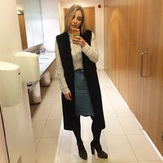 Pin for Later: 27 Real-Girl Mirror Selfies That Inspired Our Next-Day Outfit Leave Your House Like You Walked Straight Out of the '60s Pull out your crochet blouse and denim pencil skirt, and work your Mary Janes like it's nobody's business. There's no better way to stand out.