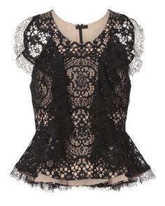 Cairo Black Lace Top