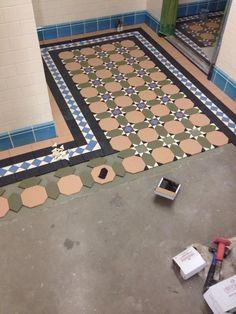 Victorian Hallway, Victorian Porch, Victorian Tiles, Tiled Hallway, Hallway Flooring, Flooring Tiles, Floor Design, Tile Design, Dream Home Design