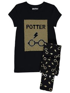 Harry Potter kääntöpaljetti t-paita ja legginsit setti