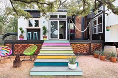 400 Sq. ft. Bohemian-Style Small House on Wheels