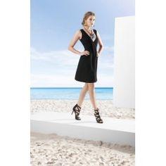 VESTIDO NEGRO EN GEORGETTE - VESTIDOS - Ataraxia moda