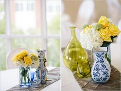 Blue And Yellow Wedding At Baylor School