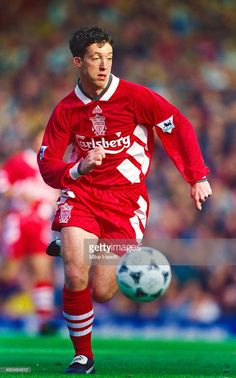 Liverpool striker Robbie Fowler in action during an FA Premier League match between Liverpool and Aston Villa at Anfield on October 8, 1994 in Liverpool, England.