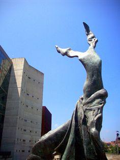 """""""Terpsichore, Muse of the Dance"""" by Salvador Dalí (1904-1989), Palacio Euskalduna/Euskalduna Jauregia, Bilbao, Spain"""