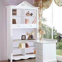 Rustic Bookcases White Fashion Combination Bookcase Corner Computer Desk Belt Small 82836