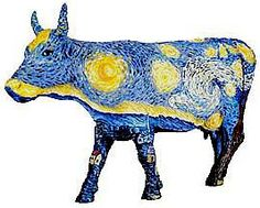 cow parade starry cow
