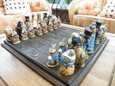 Vintage Hand Painted Alice Chess PIeces and by ChessMouldsAndMore, £140.00
