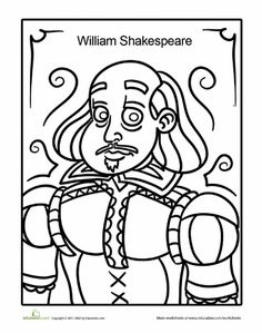 worksheets shakespeare coloring page