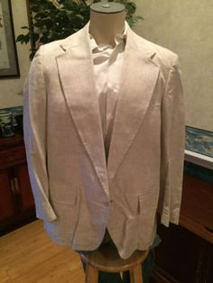 VTG Men's Casual Blazer Ivory Speckled by McGregor 1960s 1970s Jacket size 44 46 in Clothing, Shoes & Accessories, Vintage, Men's Vintage Clothing, 1965-76 (Mod, Hippie, Disco), Blazers, Sportcoats | eBay