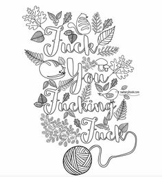 https//wwwfacebook/colorfullanguageart  swear words adult coloring pages  pinterest