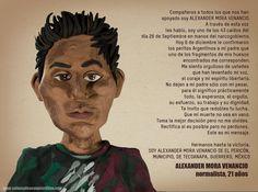 Recordando a uno de los 43 estudiantes mexicanos desaparecidos. Más de @plastilinacrea, aquí: http://bit.ly/183khey