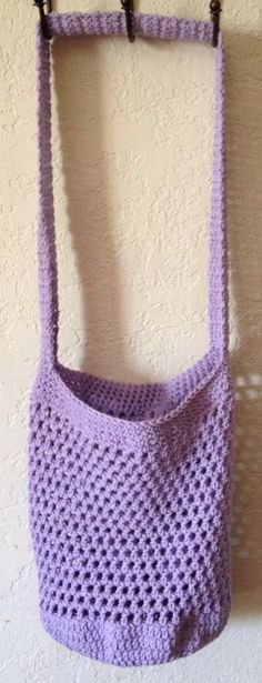 Lavender Purple Market Tote by SpiderCreations on Etsy, $15.00