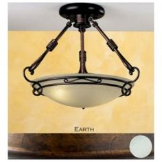Lustrarte 656/38 Two Light 15 Inch Wide Semi-Flush Ceiling Fixture from the Dali Collection