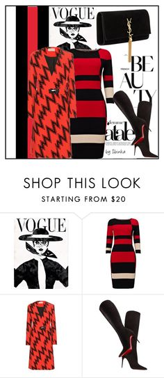 A fashion look from October 2015 featuring sleeve maxi dress, red coat and knee-high boots. Phase Eight, Christopher Kane, Red Black, Yves Saint Laurent, Christian Louboutin, Vogue, Shoe Bag, Polyvore, Stuff To Buy