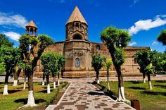 Holy Mother of God Church, Armenian,  (Armenian: Mayr Tajar Surb Ejmiatsin) is the oldest state-built Christian church. It's original vaulted basilica was built in 301-303 by Saint Gregory the illuminator when Armenia became the first country to adopt Christianity as a state religion.