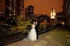 Morgan and Michael's Chicago wedding features a rich and beautiful color palette with my most favorite colors of fall. Their reception decor included carved pumpkins, floating cranberries, and mini pumpkin escort cards in a candle-lit, enchanted space, River East Art Center.
