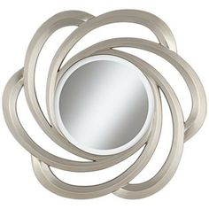 """Cosmo 32"""" Round Silver Wall Mirror -"""